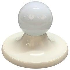 "Castiglioni Midcentury White Metal ""Light Ball"" Italian Sconce for Flos, 1960s"