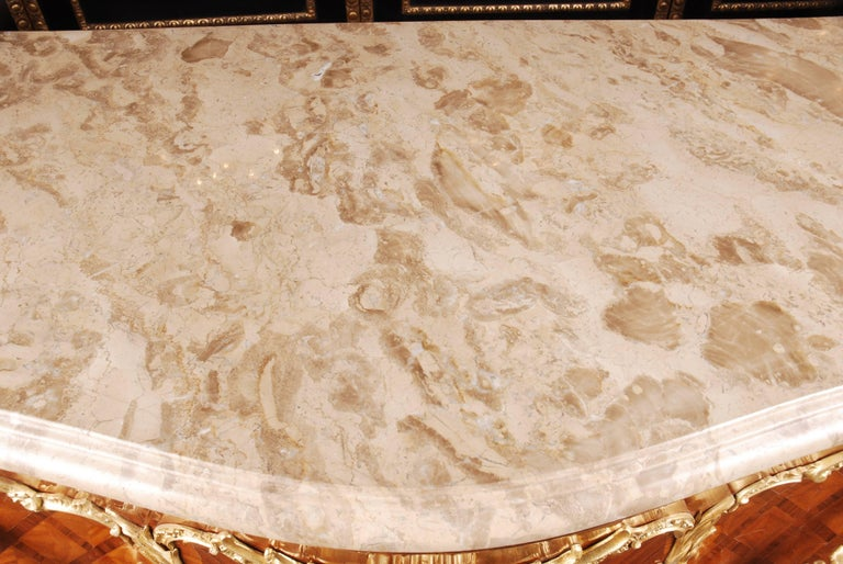 Bronzed Castle Quality French Commode in Louis XV Style For Sale