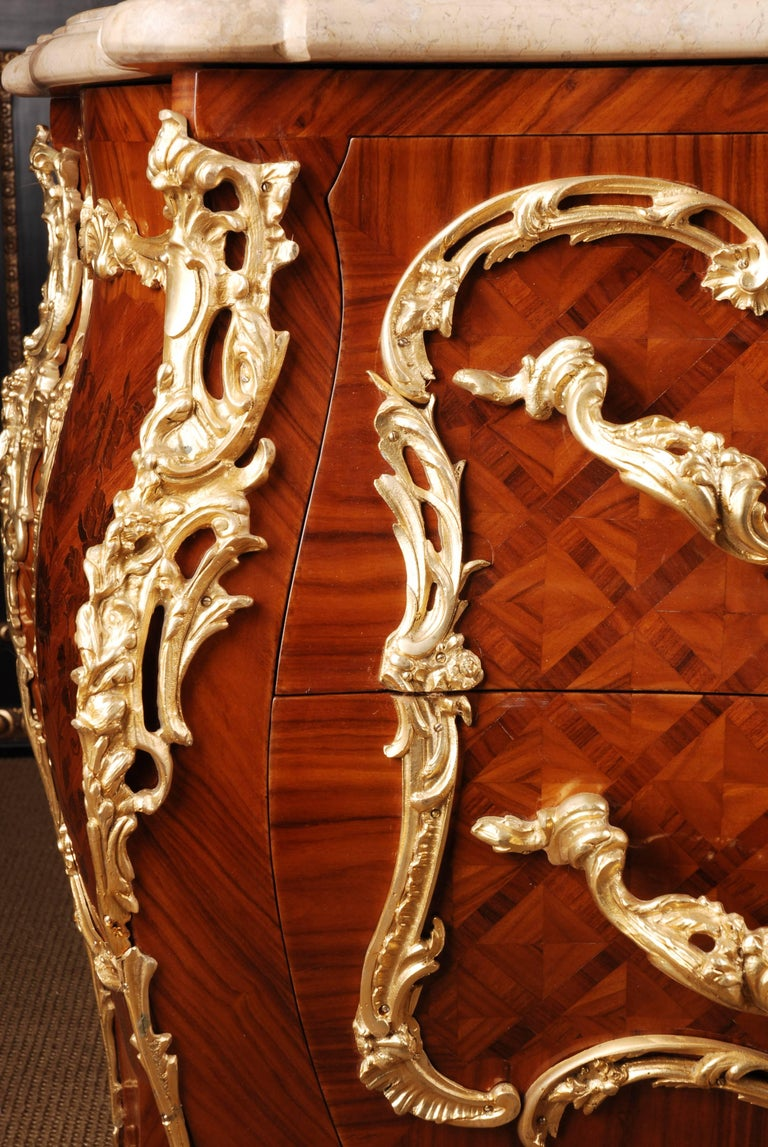 Rosewood Castle Quality French Commode in Louis XV Style For Sale