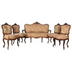 Castle Worthy Salon Group Sofa and Chairs Neo Rococo, circa 1860
