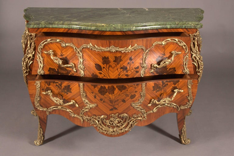 Inlay Castleworthy French Chest of Drawers in Louis XVI Style Baroque For Sale