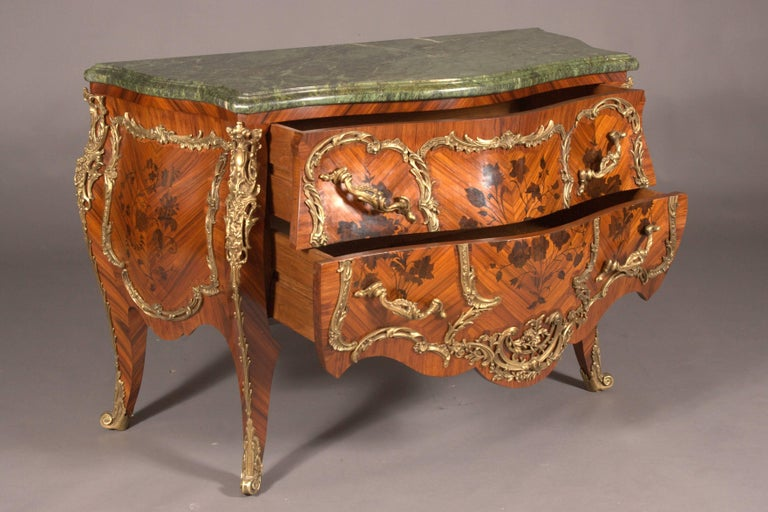 18th Century and Earlier Castleworthy French Chest of Drawers in Louis XVI Style Baroque For Sale