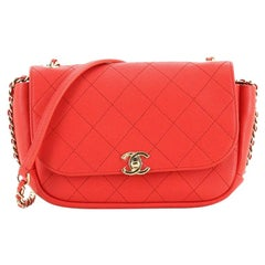 Casual Trip Flap Bag Quilted Lambskin Small