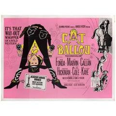 """""""Cat Ballou"""" R1960s British Quad Film Poster"""