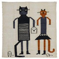 Cat Shopper Persian Flat-Weave