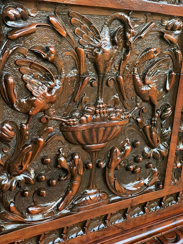 Catalan Baroque Carved Walnut Cassone or Trunk, 18th Century For Sale 3