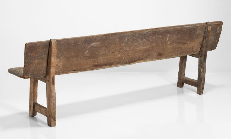 Wood Catalan Bench, Spain, 19th Century For Sale
