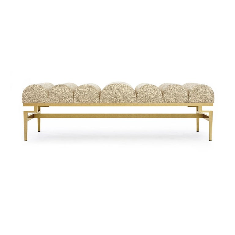 Catalina Bench with Gold Leaf Detail by Badgley Mischka Home 2