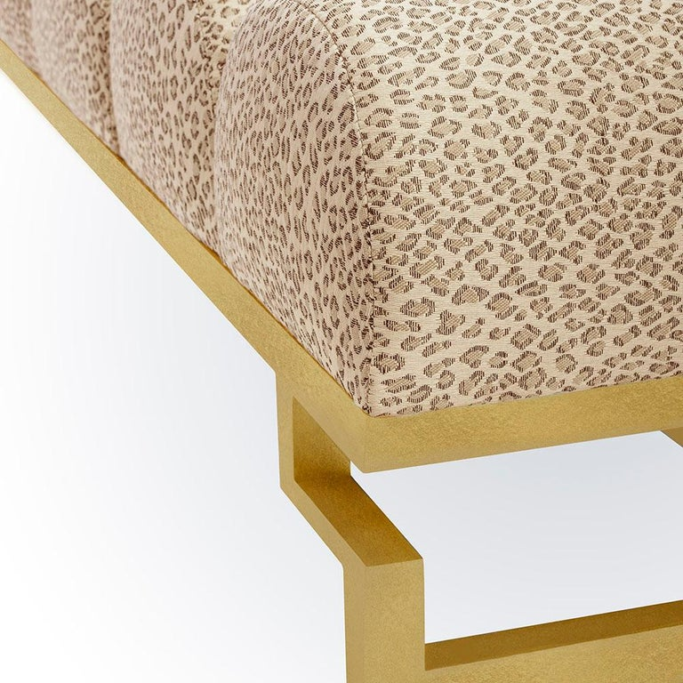 Mexican Catalina Bench with Gold Leaf Detail by Badgley Mischka Home For Sale