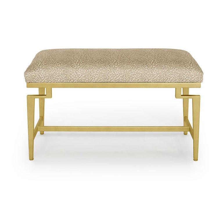 Catalina Vanity Bench with Gold Leaf Detail by Badgley Mischka Home 2