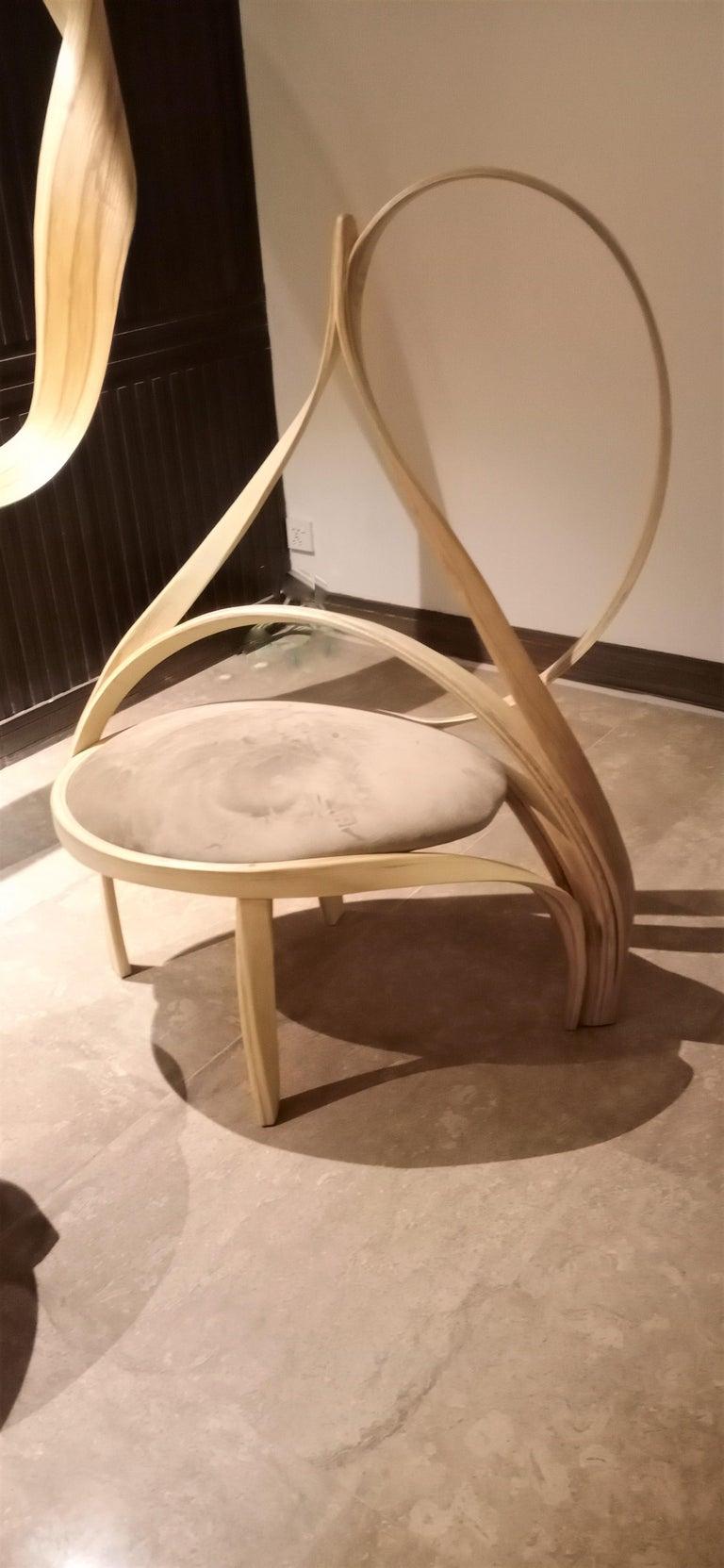 Organic Modern Cataract Chair II by Raka Studio For Sale