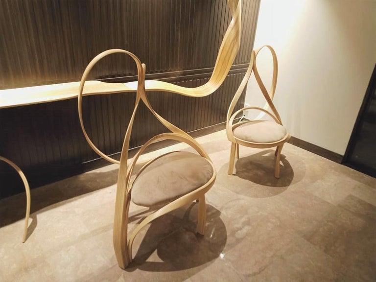 Velvet Cataract Chair II by Raka Studio For Sale
