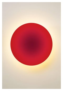 """Red Tara"", glowing red circle, photogaphs abstract light and color"