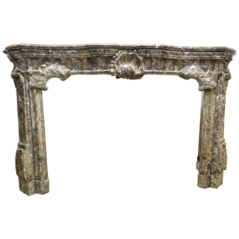 Category on Her Own Fireplace Made of Saint Anne-Marble