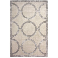 Catella Hand-Knotted 10x8 Rug in Wool and Silk by Emily Todhunter