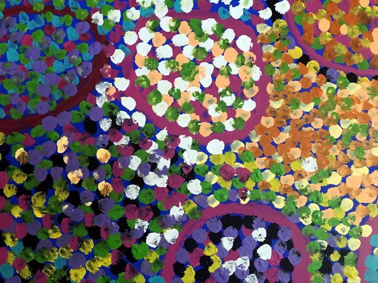 Caterpillar Dreaming Australian Aboriginal Artist Lorna Fencer For Sale 1