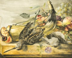 Still Life with Bird and Horn Romantic - Classic - Netherlands - Dutch -