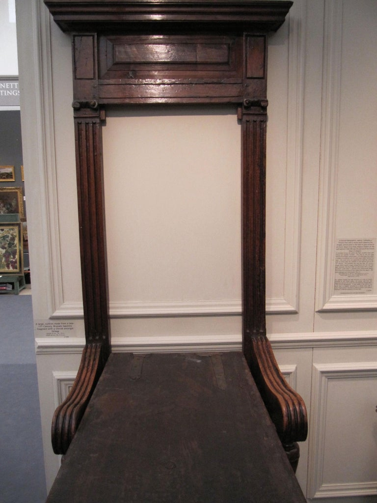 Cathedra or Throne Chair, Late 16th Century, French Second Renaissance, Walnut For Sale 7