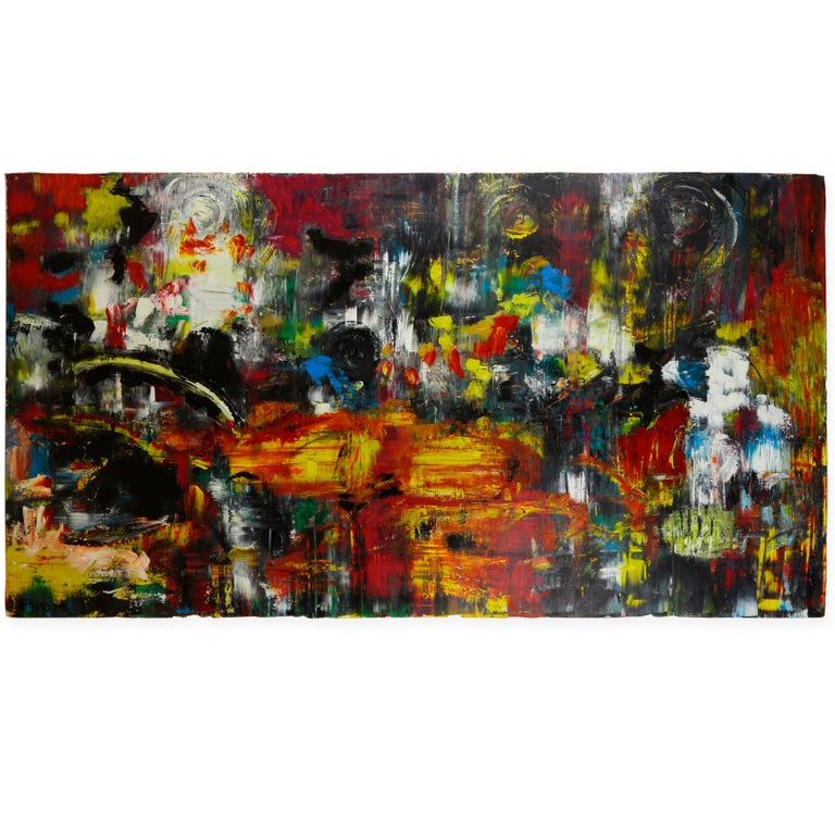 Cathedral Acrylic on Canvas Abstract Painting Andrew Plum For Sale