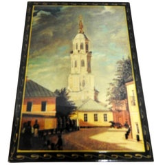 Cathedral at the Kremlin Russian Lacquer Box