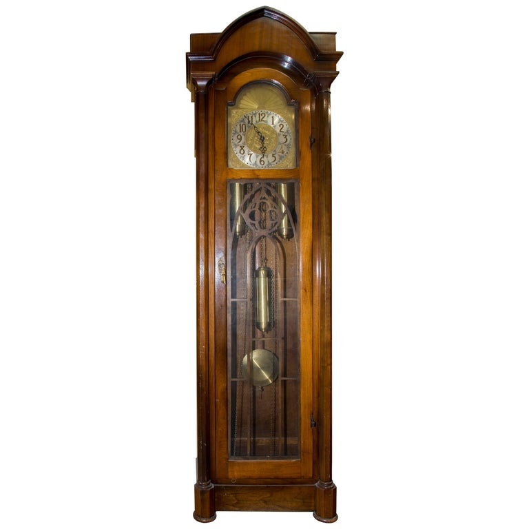 Cathedral Style Grandfather Clock Circa 1930s For Sale At