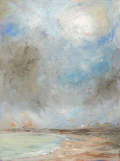 """The Sun Breaking Through at Goose Rocks Beach"", Catherine Gibbs, oil, landscape"