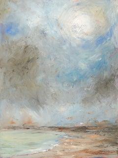 """The Sun Breaking Through at Goose Rocks Beach"", Catherine Gibbs, oil, landscape"