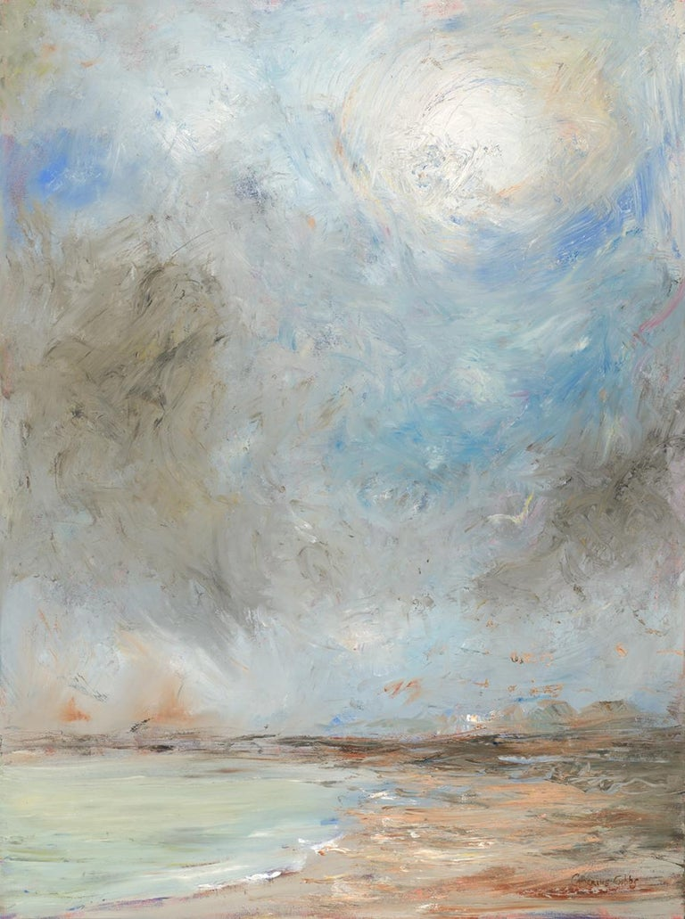 """""""The Sun Breaking Through at Goose Rocks Beach"""", Catherine Gibbs, oil, landscape - Painting by Catherine Gibbs"""