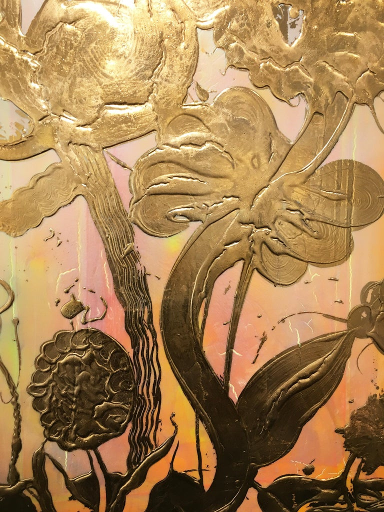 Copper Leaf, Mixed Media, Still Life Painting, Catherine Howe, Opal Painting #2 For Sale 3