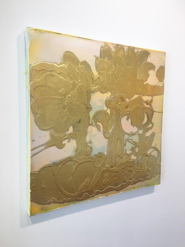 Gold leaf, Mixed Media, Still Life Painting, Catherine Howe, Opal Painting(gold) For Sale 2