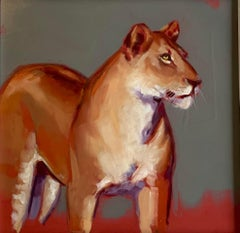 Huntress - original animal oil painting Contemporary modern Art 21st Century