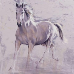 Phantegro - abstract horse animal wildlife painting contemporary modern art
