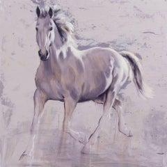 Phantegro - original abstract wildlife horse oil painting contemporary modern