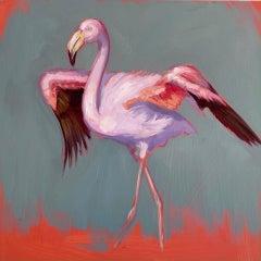 Strut - original painting Contemporary wildlife Art 21st Century animal nature
