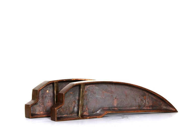 Cupric I and II, Pair of Bronze Sculptures For Sale 1