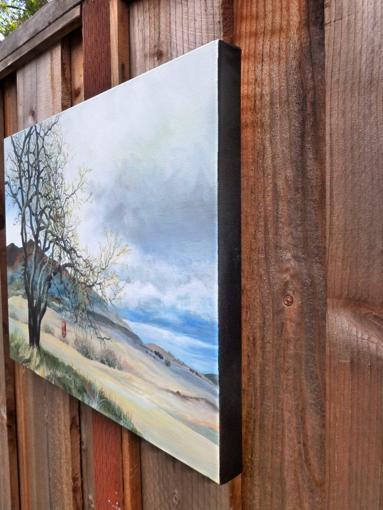 Aging in Place, Original Painting - Gray Landscape Painting by Catherine McCargar