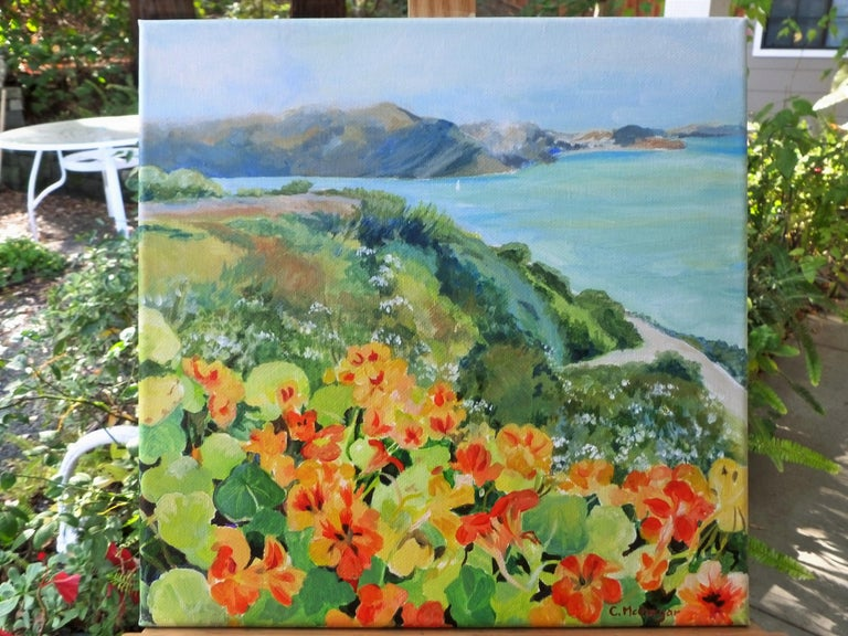 <p>Artist Comments<br>This painting celebrates the way nasturtiums grow with abandon near the coast of California. They glow, even on a foggy day.</p><br/><p>About the Artist<br>Impressionist Catherine McCargar expresses her deep admiration of