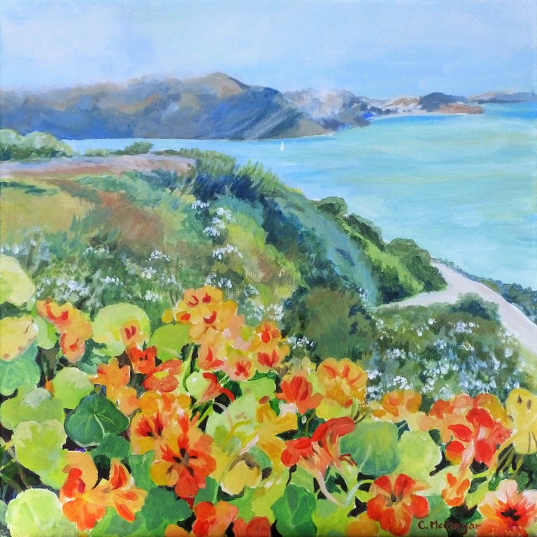 Catherine McCargar Landscape Painting - Sunshine on a Cloudy Day, Original Painting