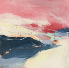 Catherine Warren, Red Sky, Original Abstract Art, Affordable Art