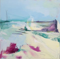 Beach Bar BY CATHERINE WARREN, Bright Art, Seascape Art, Abstract Painting