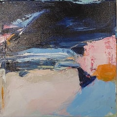 Catherine Warren, Pink Cliff, Original Abstract Painting, Affordable Art