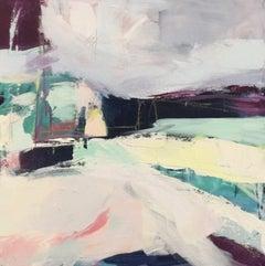 Catherine Warren, Purple Shadows, Original Abstract Art, Mixed Media Art