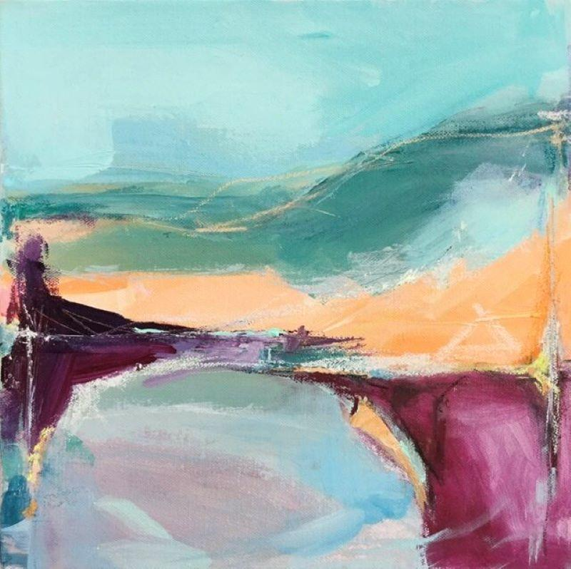 Catherine Warren, To The Ridge, Original Abstract Painting, Affordable Art
