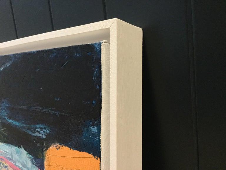 Orange Cliff, Catherine Warren, Original Abstract Art, Statement Art, Bright Art For Sale 1