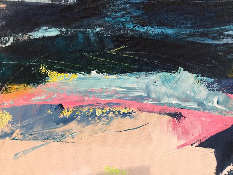 Orange Cliff, Catherine Warren, Original Abstract Art, Statement Art, Bright Art For Sale 2