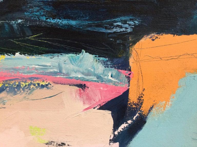 Orange Cliff, Catherine Warren, Original Abstract Art, Statement Art, Bright Art For Sale 3