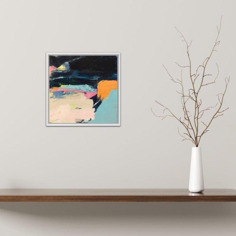 Orange Cliff, Catherine Warren, Original Abstract Art, Statement Art, Bright Art For Sale 4