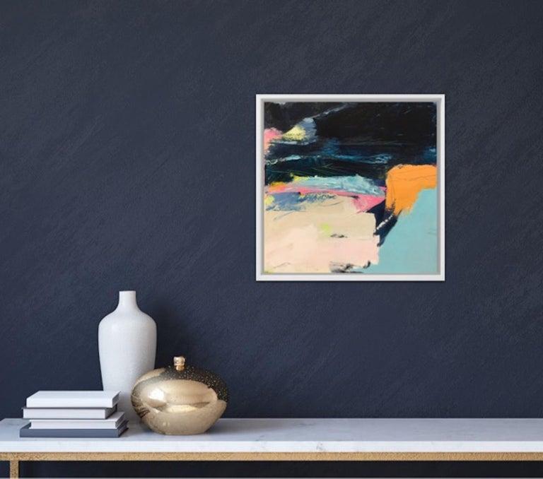 Orange Cliff, Catherine Warren, Original Abstract Art, Statement Art, Bright Art For Sale 5