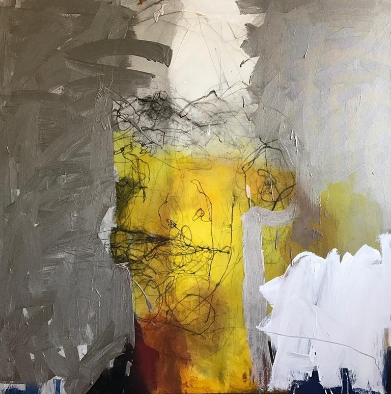 Head Series: Amber Stainless - Painting by Catherine Woskow