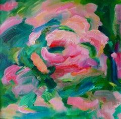 Alanna Eakin, Rosewater, Original Abstract Still Life Painting, Floral Art